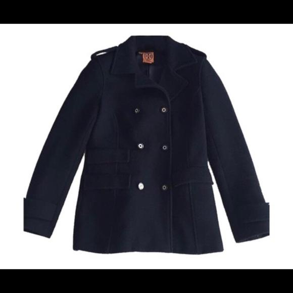 14ecbfa8bb1 Tory Burch Navy Military Pea Coat Size 10. M 5a513cb2b7f72b262e020a51.  Other Jackets   Coats ...
